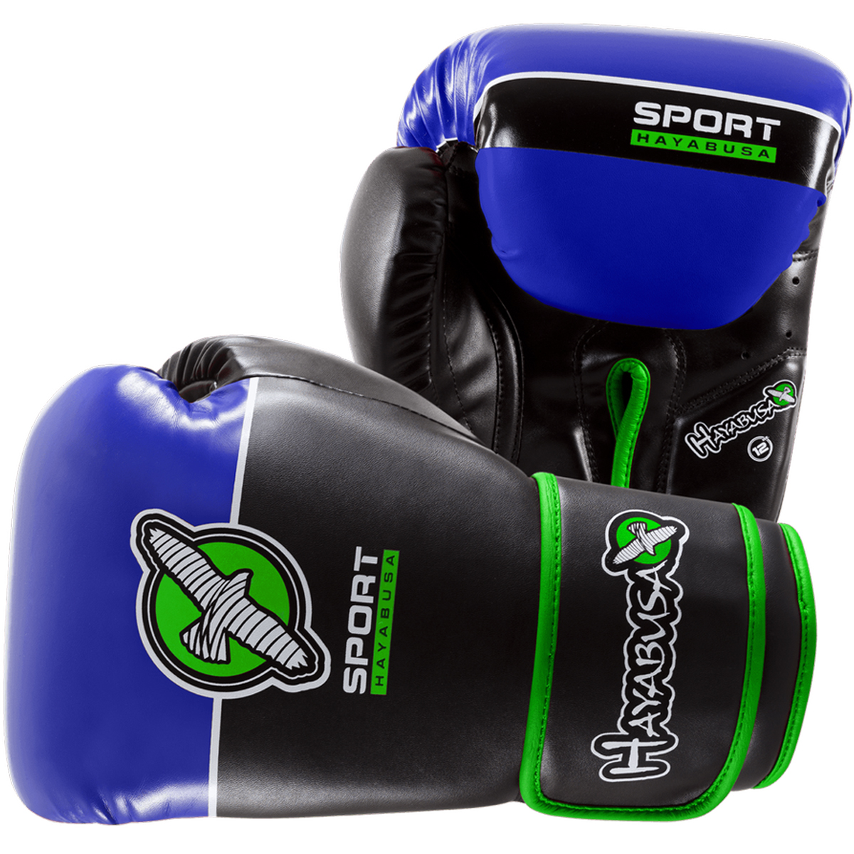 Hayabusa Sport Hook and Loop Training Glove - 12 oz. - Black/Blue/Green