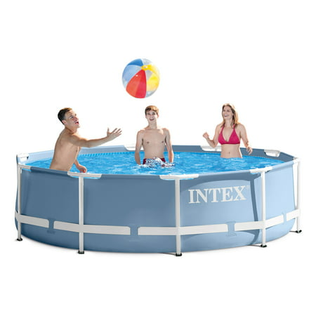 INTEX 10ft X 30in Prism Frame Pool Set with Filter Pump - Pool City Cranberry