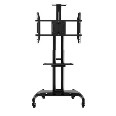 Rocelco STC Adjustable Height Mobile TV Stand For 32 70