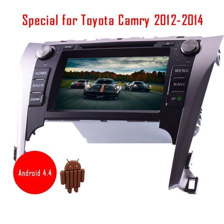 Android car dvd player gps navigation Special for Toyota Camry 2012-2014 8  inch HD cpacitive touch screen support mirror link built in wifi bluetooth