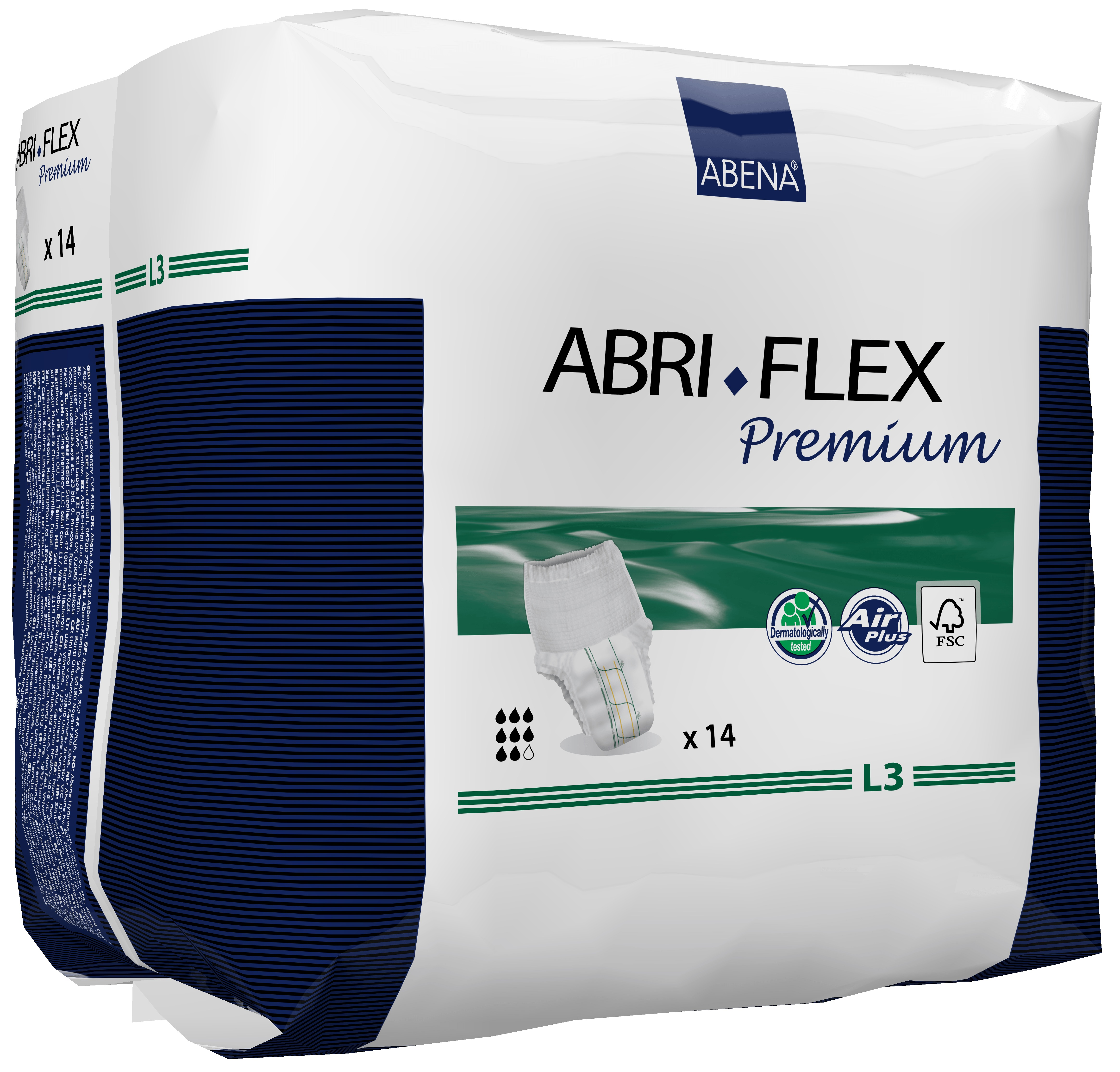 Abena Abri-Flex Premium Protective Underwear, M3, 84 Count (6 Packs of 14)