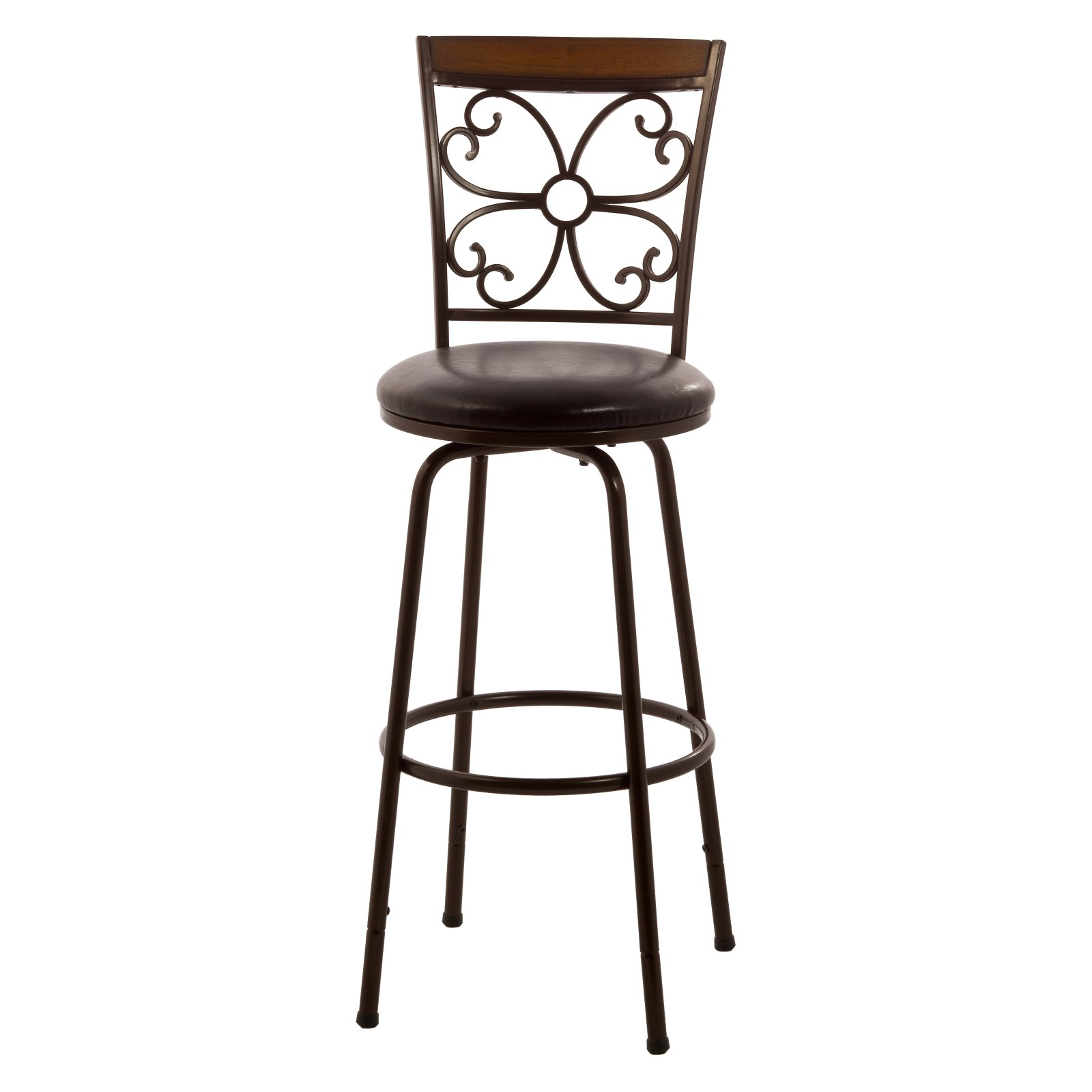 Hillsdale Furniture Garrison Swivel Bar Stool with Nested Leg  sc 1 st  Walmart : hillsdale swivel counter stool - islam-shia.org