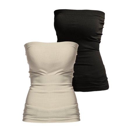 657a2eeb20 Thelovely - TheLovely Seamless Strapless Bandeau Tube Top Shaping Ribbed  Waist Tank - Walmart.com