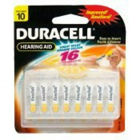 Duracell Easy Tab Size 10 Hearing Aid Batteries (16 batteries) 4 Duracell Easy Tab