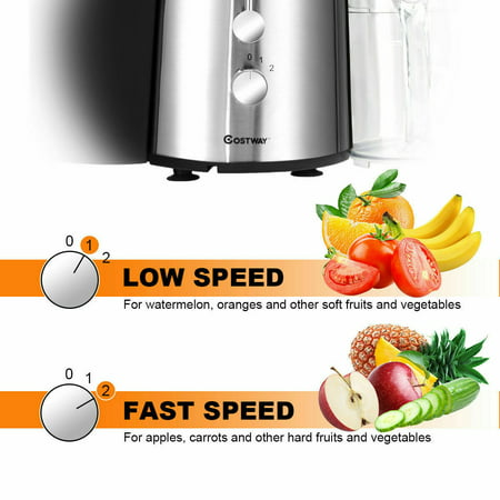 Electric Juicer Wide Mouth Fruit & Vegetable Centrifugal Juice Extractor 2 Speed - image 4 of 10