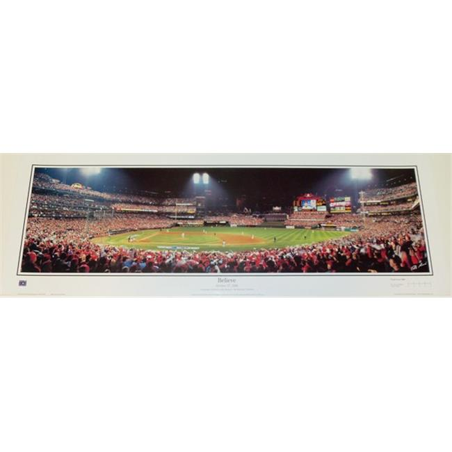 St.  Louis Cardinals - 2006 World Champions - October 27, 2006 - Believe 13. 5 X 39 Inch Panoramic Print