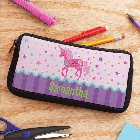 Personalized Pretty Unicorn Pencil Case