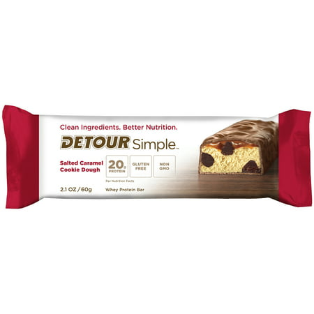 (2 Pack) Detour Simple Protein Bar, Salted Caramel Cookie Dough, 20g Protein, 1 Ct - Salt Dough Crafts Halloween