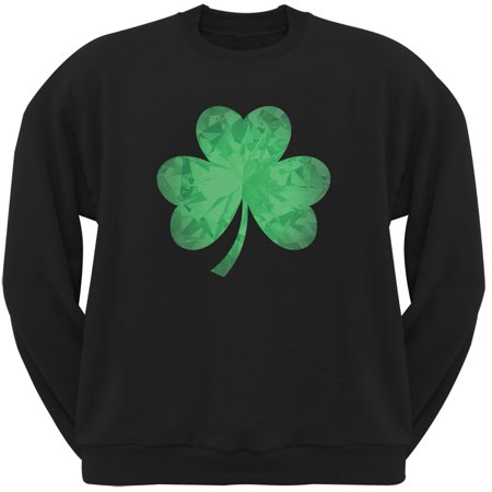 St. Patricks Day - Jeweled Shamrock Black Adult (St Patrick's Day Sayings)