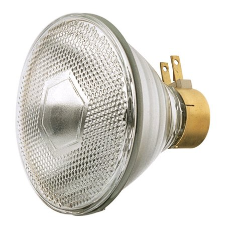 - Satco S4803 120W 120V PAR38 Clear Medium Side Prong Incandescent light bulb