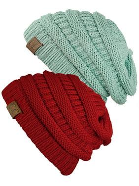 Product Image C.C Women s Knit Beanie Cap Hat (2 PACK) 9e616a1d92b6