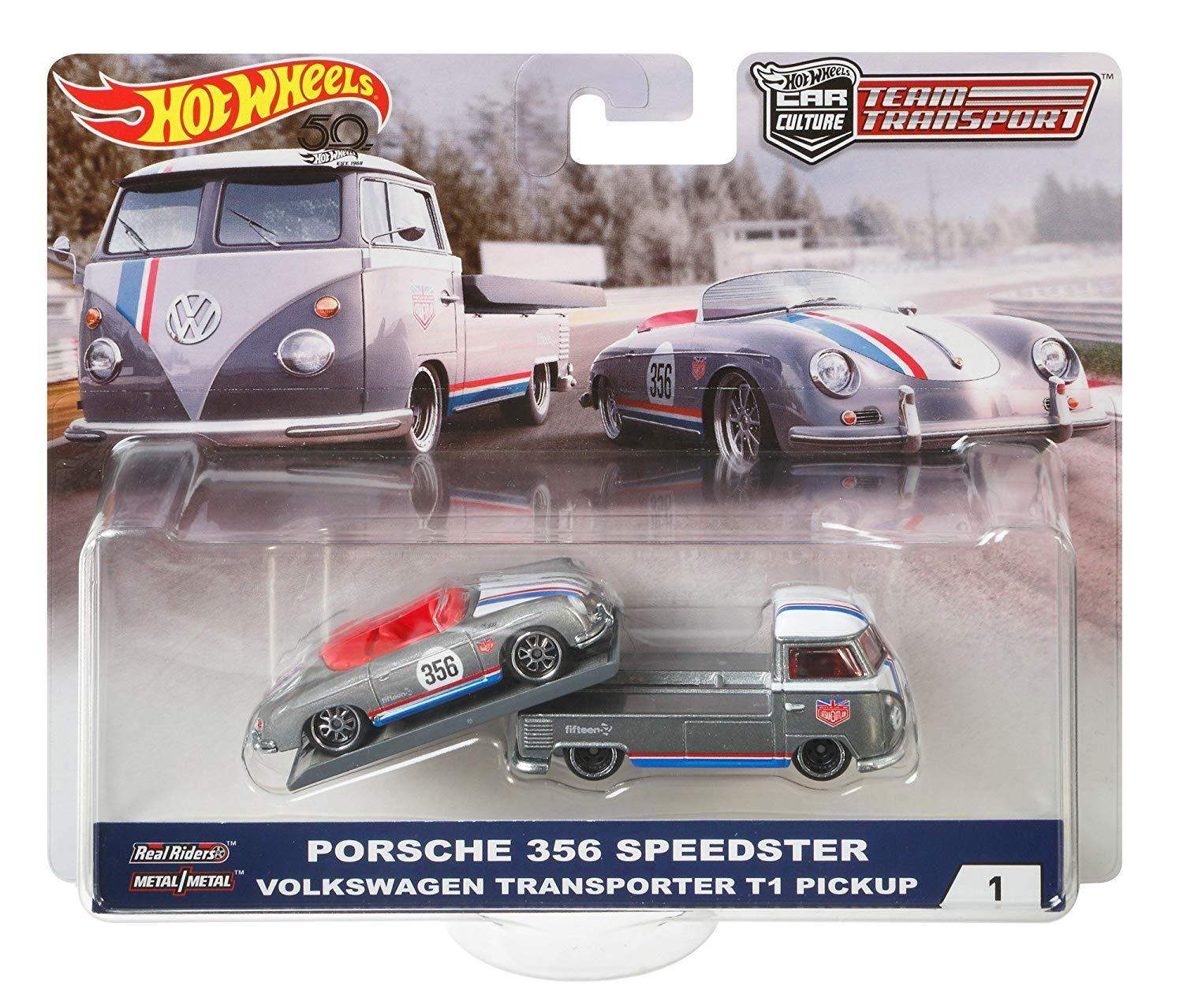 Hot Wheels 2018 Car Culture Team Transport Porsche 356 Speedster Volkswagen Transporter T1... by