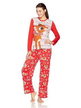 Rudolph s Red Nose Family Sleep 2-Piece Pajama Set Or Footie, Kids, Size: 8