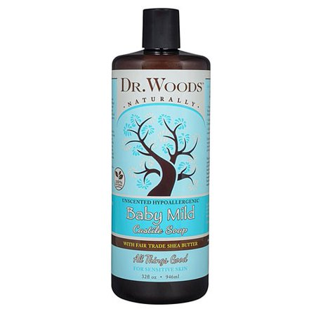 Dr. Woods Shea Vision Pure Castile Soap Baby Mild with Organic Shea Butter - 32 fl oz (Unscented Castil Soap)