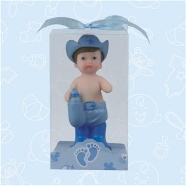 De Yi 21036W-BL Baby Shower Cowboy and Cowgirl Favors in Blue