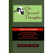 On Second Thoughts - eBook