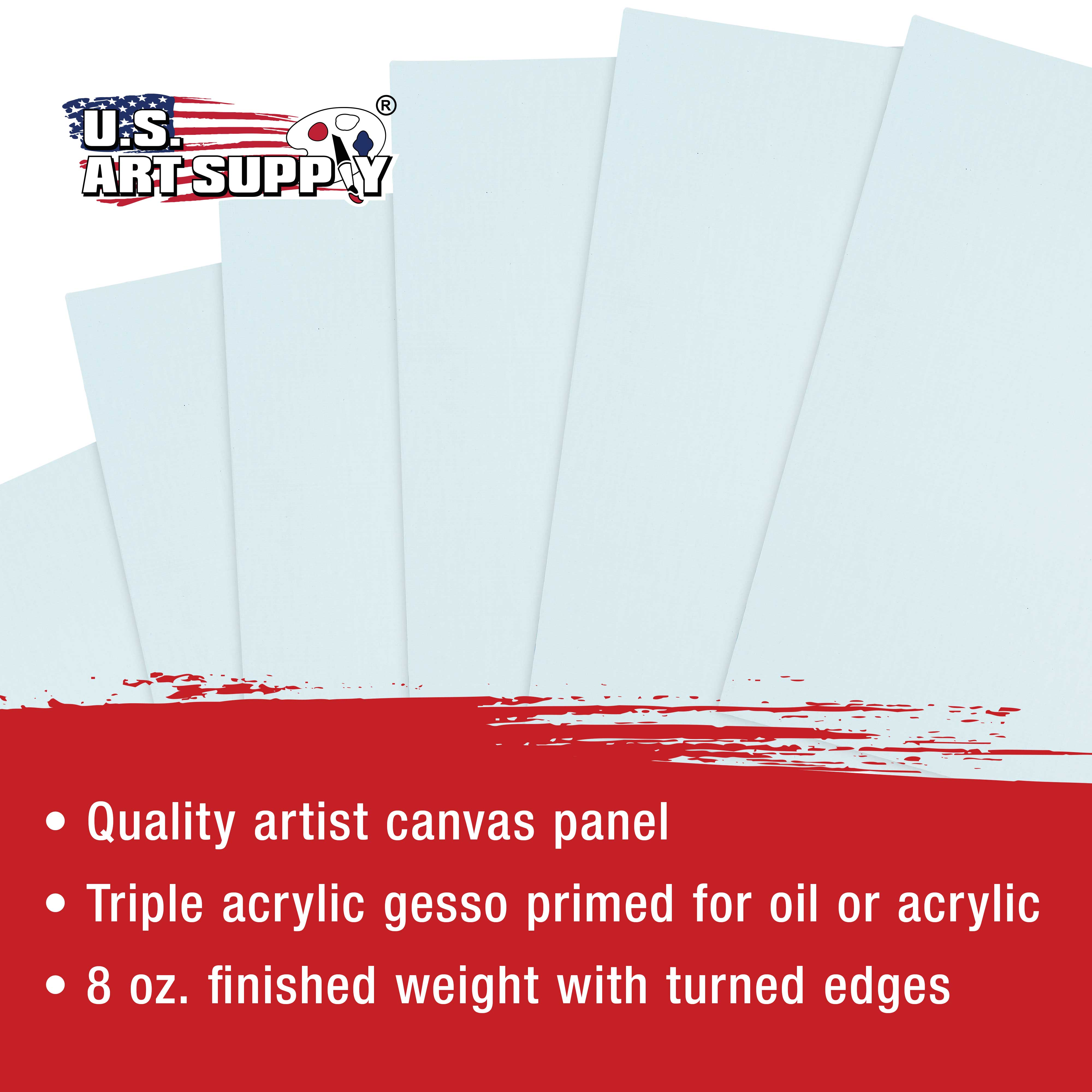 1 Full Case of 12 Single Canvas Board Panels US Art Supply 4 X 6 inch Professional Artist Quality Acid Free Canvas Panel Boards for Painting 12-Pack