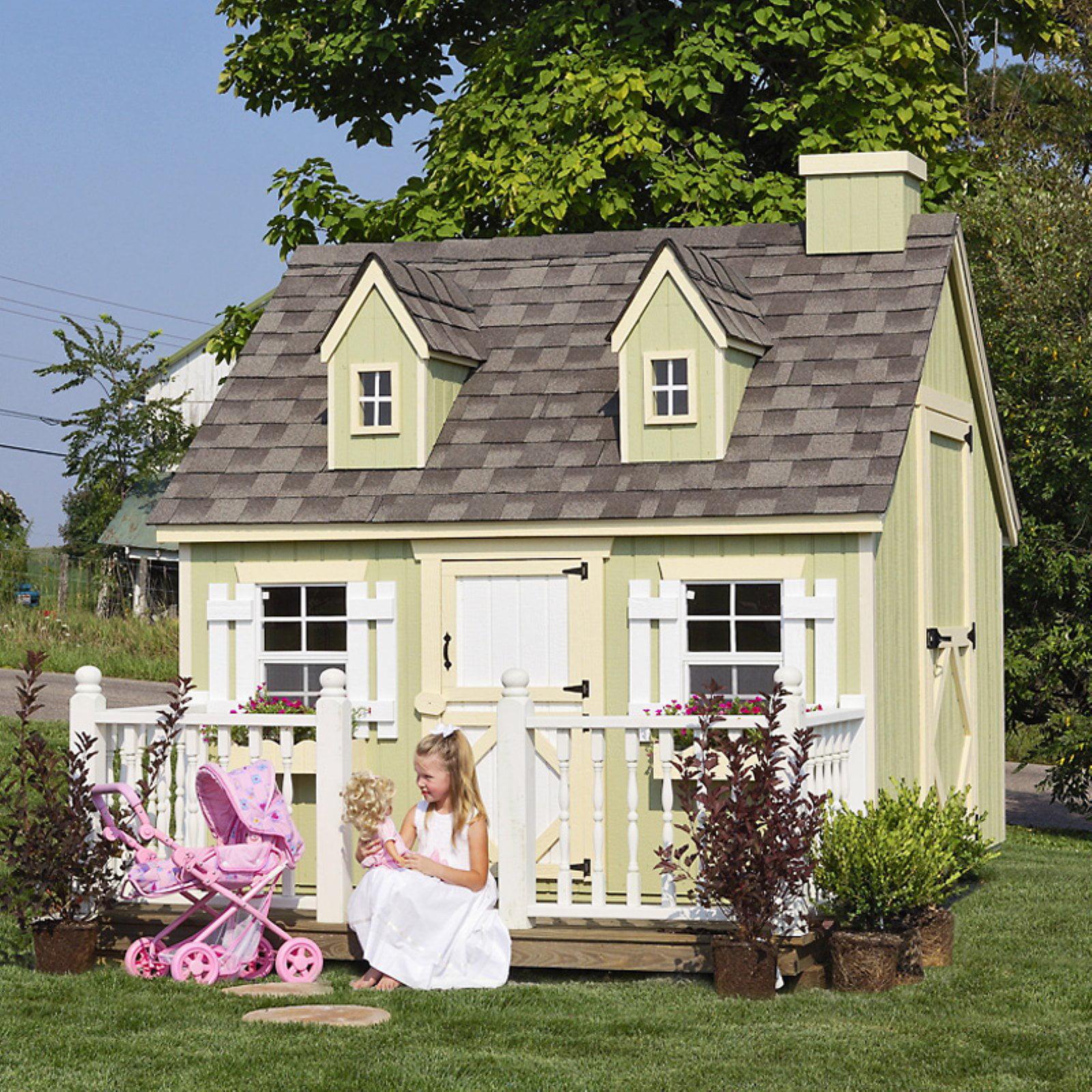 Little Cottage Cape Cod 8 x 8 ft. Wood Playhouse by Little Cottage Co
