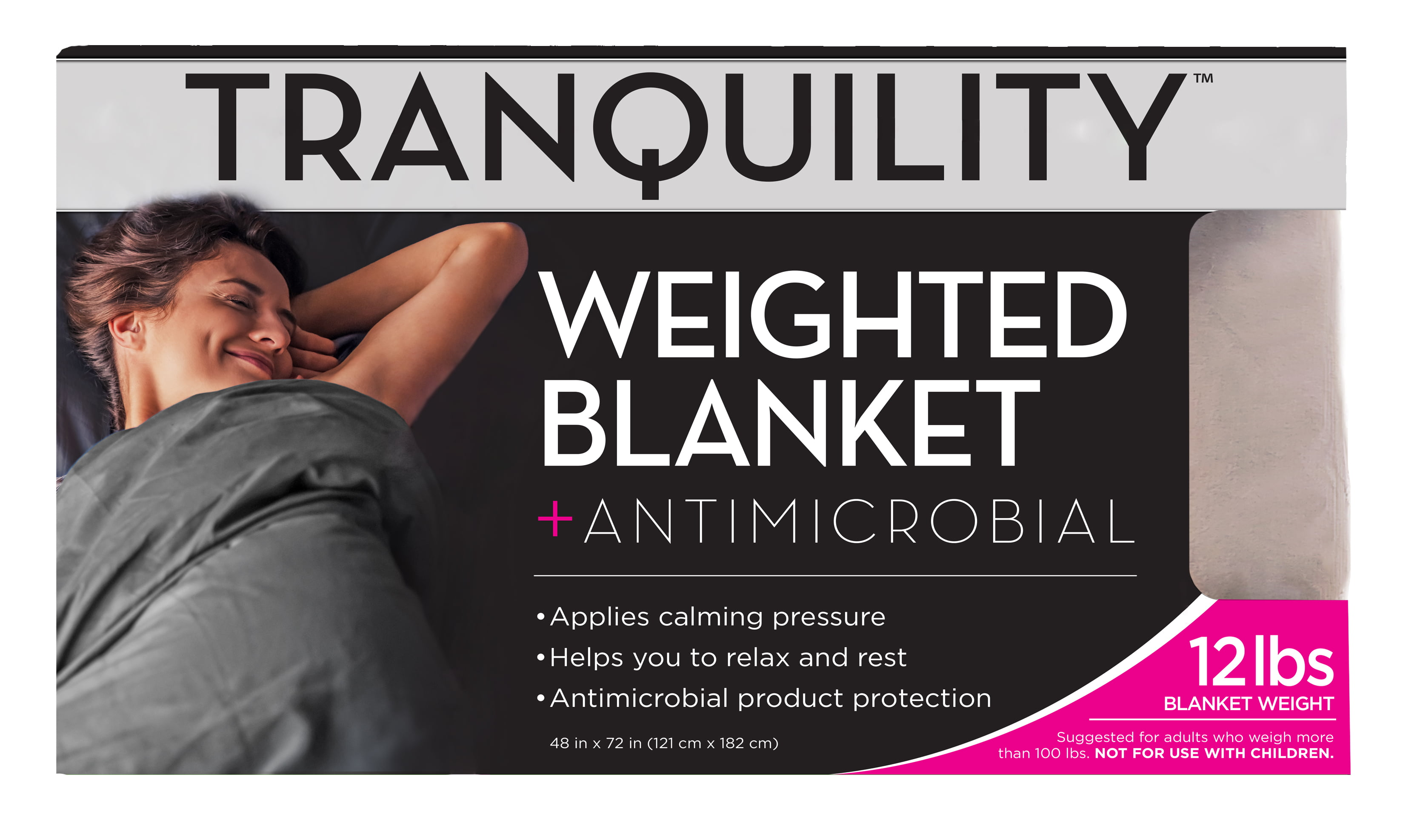 "Tranquility Weighted Blanket 12lb, 48"" x 72"", Tan - Walmart.com"