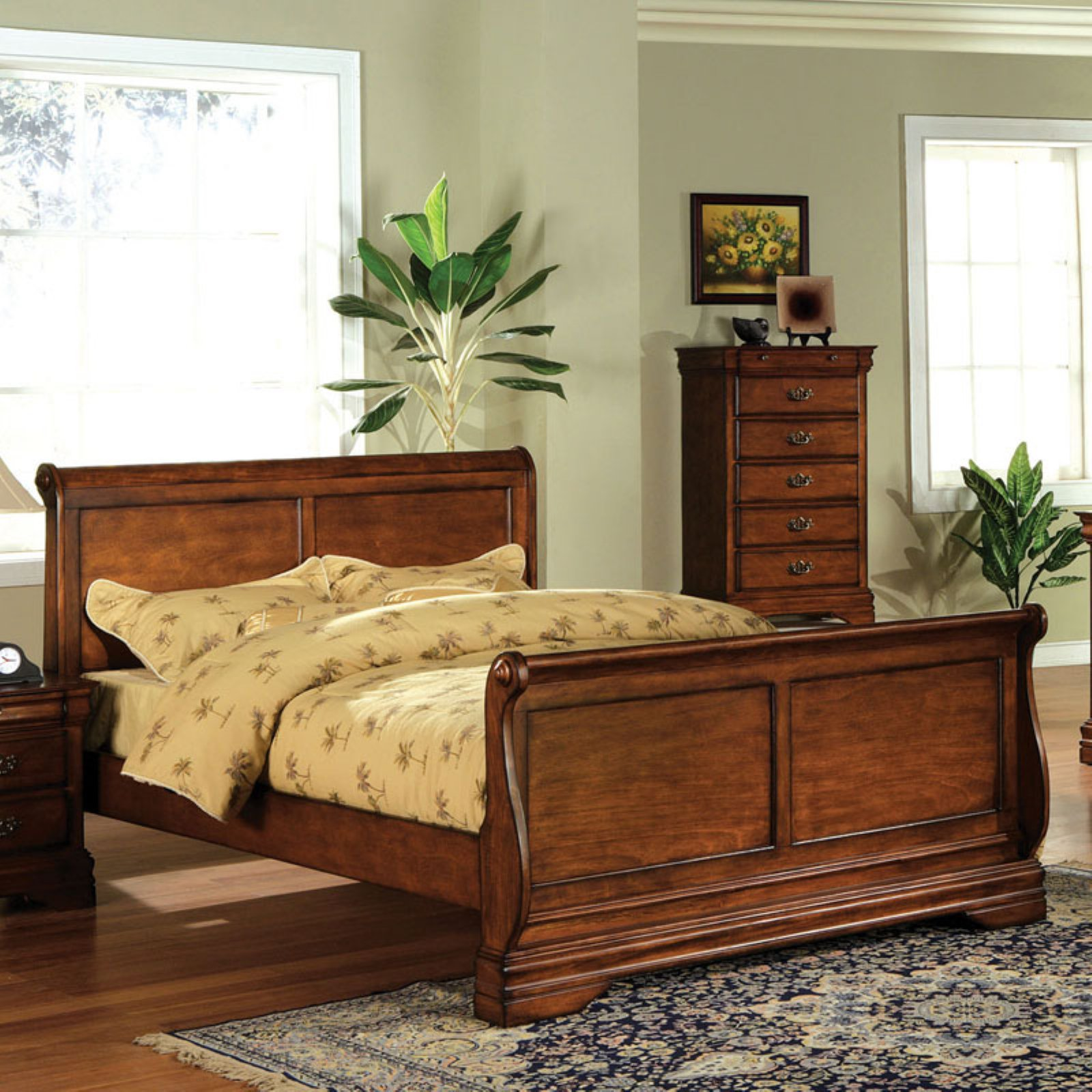 Furniture Of America Hayward Sleigh Platform Bed