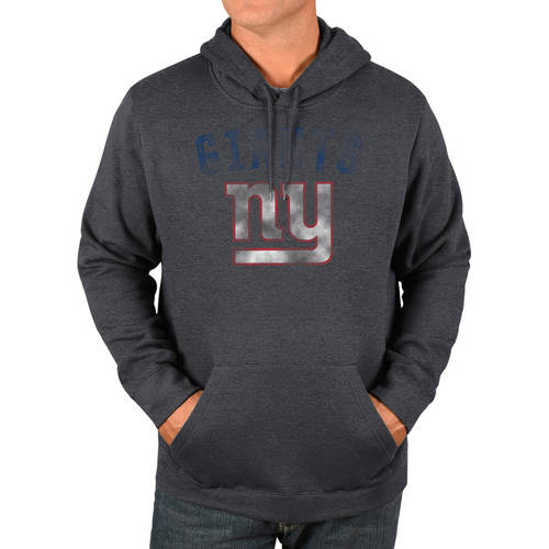 NFL New York Giant's Men's Big and Tall Pullover Hooded Sweatshirt