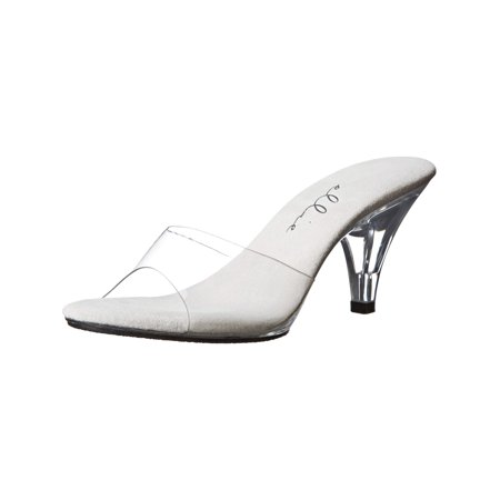 3 Inch Clear Heel Clear Shoes Prom Wedding Shoes - 3 Inch Chunky Heels