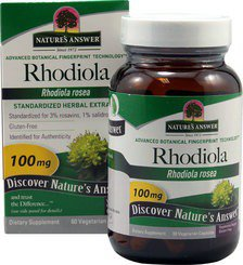 Rhodiola Standardized Root Extract Nature's Answer 60 VCaps