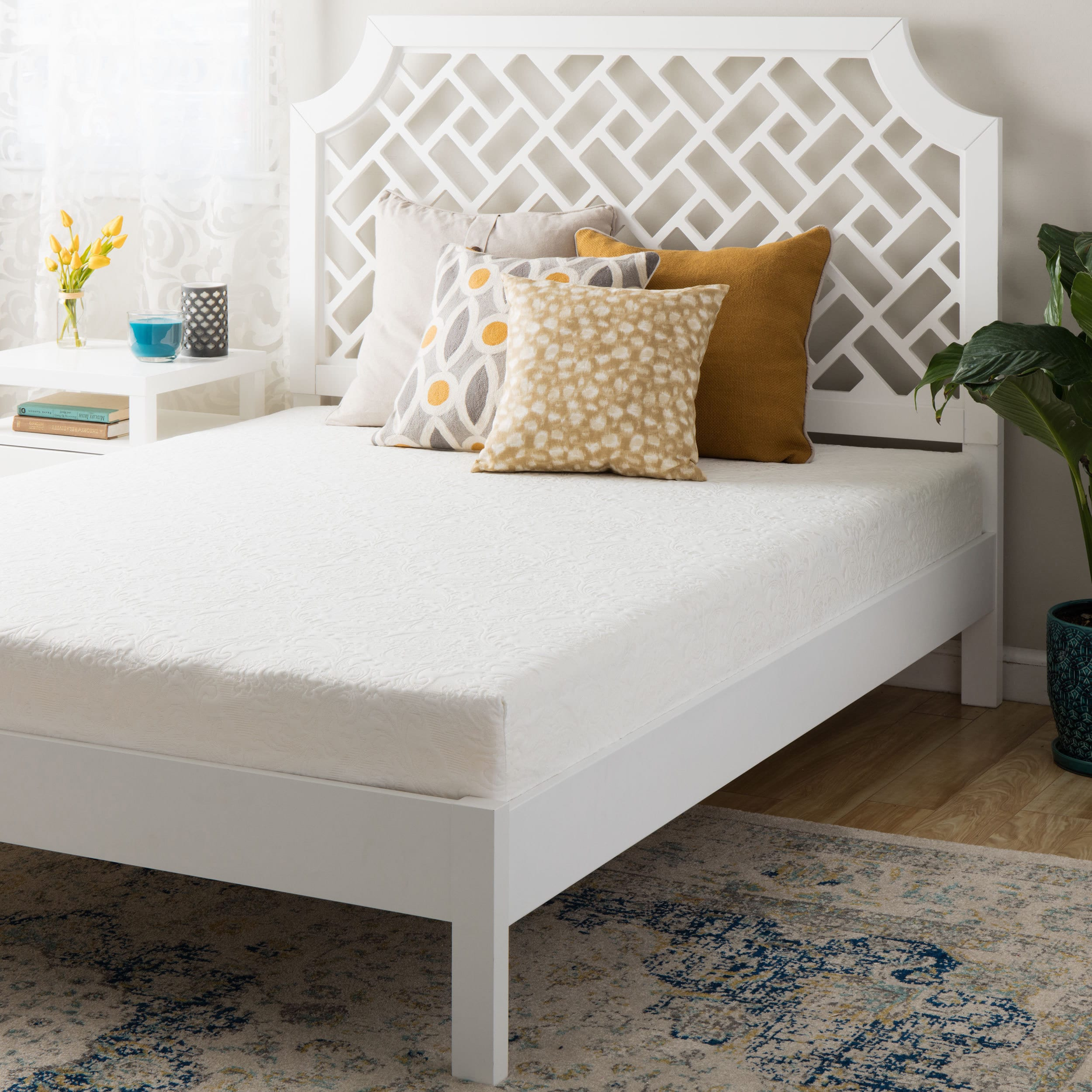 Orthosleep Product Double Layered 8-Inch Full-size Memory Foam Mattress - Off white
