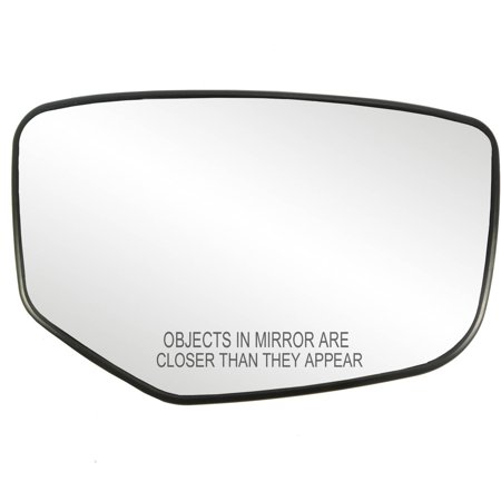 30215 - Fit System Passenger Side Heated Mirror Glass w/ backing plate, Honda Accord 08-12, Excluding Crosstour model, 4 7/ 8