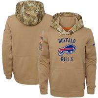 Buffalo Bills Nike Youth 2019 Salute to Service Therma Pullover Hoodie - Khaki