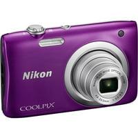 Nikon Coolpix A100 20MP Digital Camera (Silver) International Model No Warranty