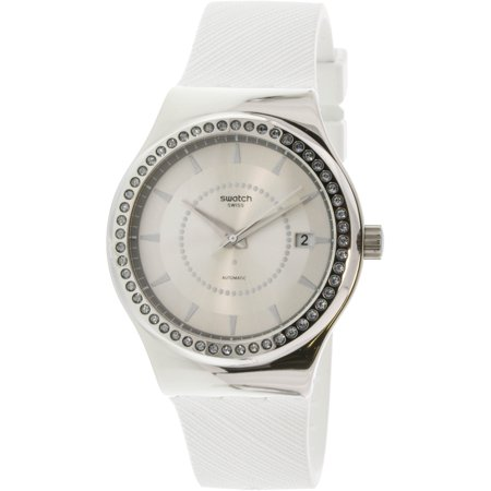 Swatch Women's Sistem Snow YIS406 Silver Rubber Automatic Dress Watch - image 1 de 1