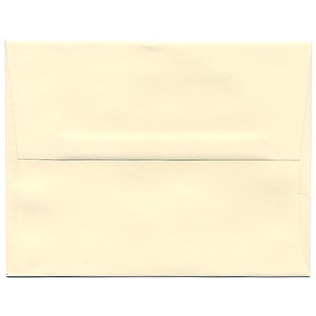 JAM Paper A2 Strathmore Envelope, 4 3/8 x 5 3/4, Ivory Wove, 25/pack