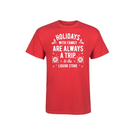 Holidays With Family A Trip Liquor Store - Adult Short Sleeve Tee (Store Adult)