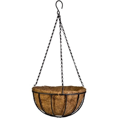 cobraco canterbury 12 metal and coconut liner hanging basket. Black Bedroom Furniture Sets. Home Design Ideas