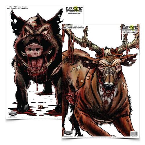 "Darkotic® Combo - 12"" x 18"" Smokehouse™/Blood Trail™ 4/4 targets"