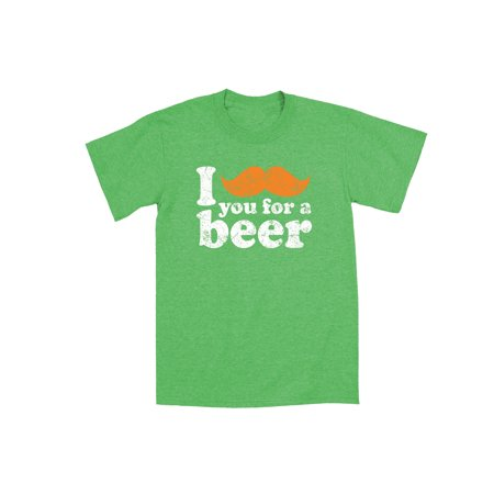 Funny I Mustache You For a Beer  St. Patty's Day Drinking Party Mens T-Shirt