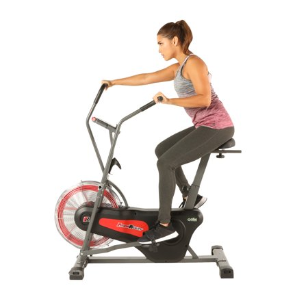 FITNESS REALITY 1000AR Bluetooth Air Resistance HIIT Exercise Fan Bike with Free