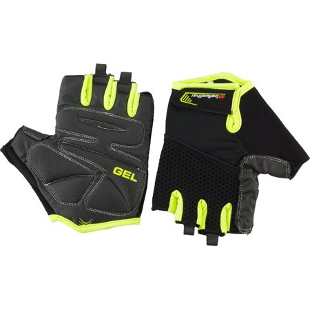 Gel Short Finger Glove - Gel Supreme Men's Short Finger Glove: Hi-Vis MD