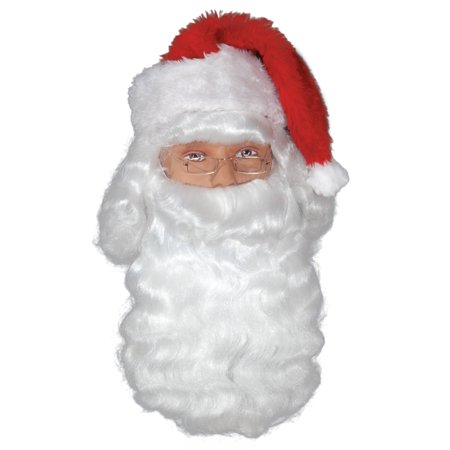 Loftus Perfect Santa Wig & Beard Accessory Kit, White, One Size - White Short Wig
