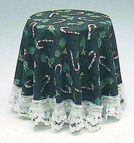 Dollhouse Skirted Table-Christmas Green