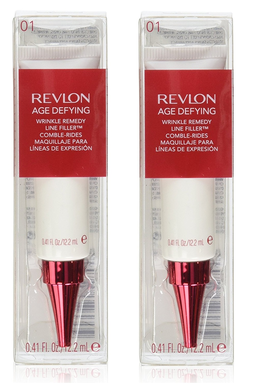 4 Pack - Revlon Age Defying Wrinkle Remedy Line Filler 0.41 oz Guinot - Liftosome - Day/Night Lifting Cream All Skin Types -50ml/1.6oz