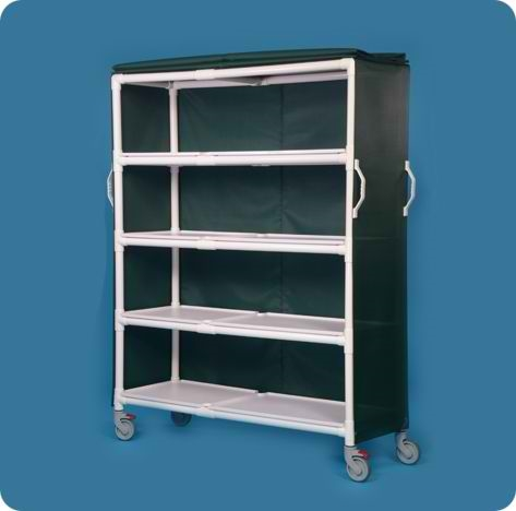 Extra Large Deluxe Linen Cart with 4 Shelves