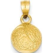 Leslies Fine Jewelry Designer 14k Yellow Gold Tennis Ball (9x17mm) Pendant Gift