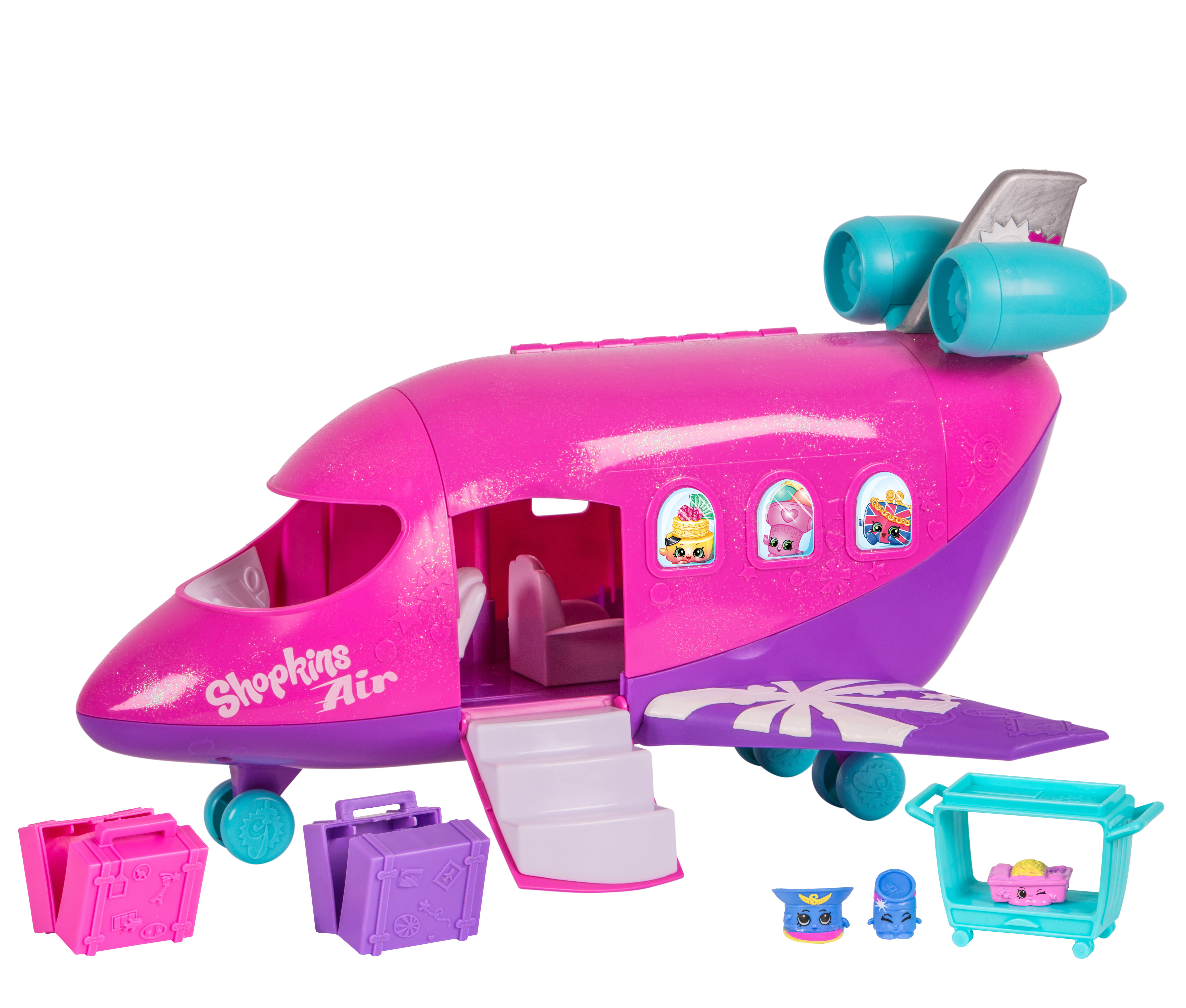 Shopkins World Vacation Plane Jet Playset With 3 Shopkin