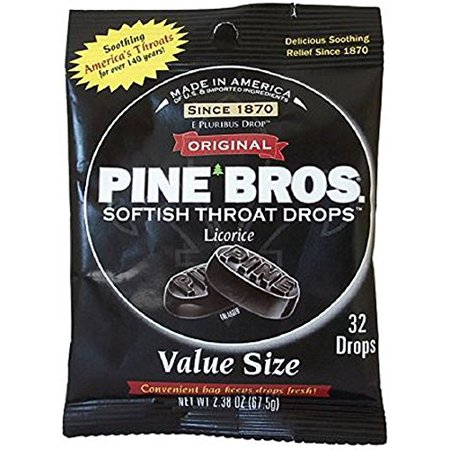 Pine Bros. Softish Throat Drops Value Pack, Licorice Flavors 32 - Value Drop