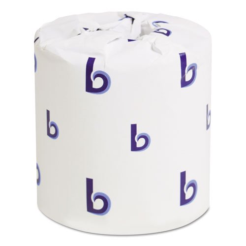 "Boardwalk Two-Ply Toilet Paper, 4 1/2"" X 3"" Sheet, 500 Sheets per Roll, 96 Rolls per Case, White, BWK6180"
