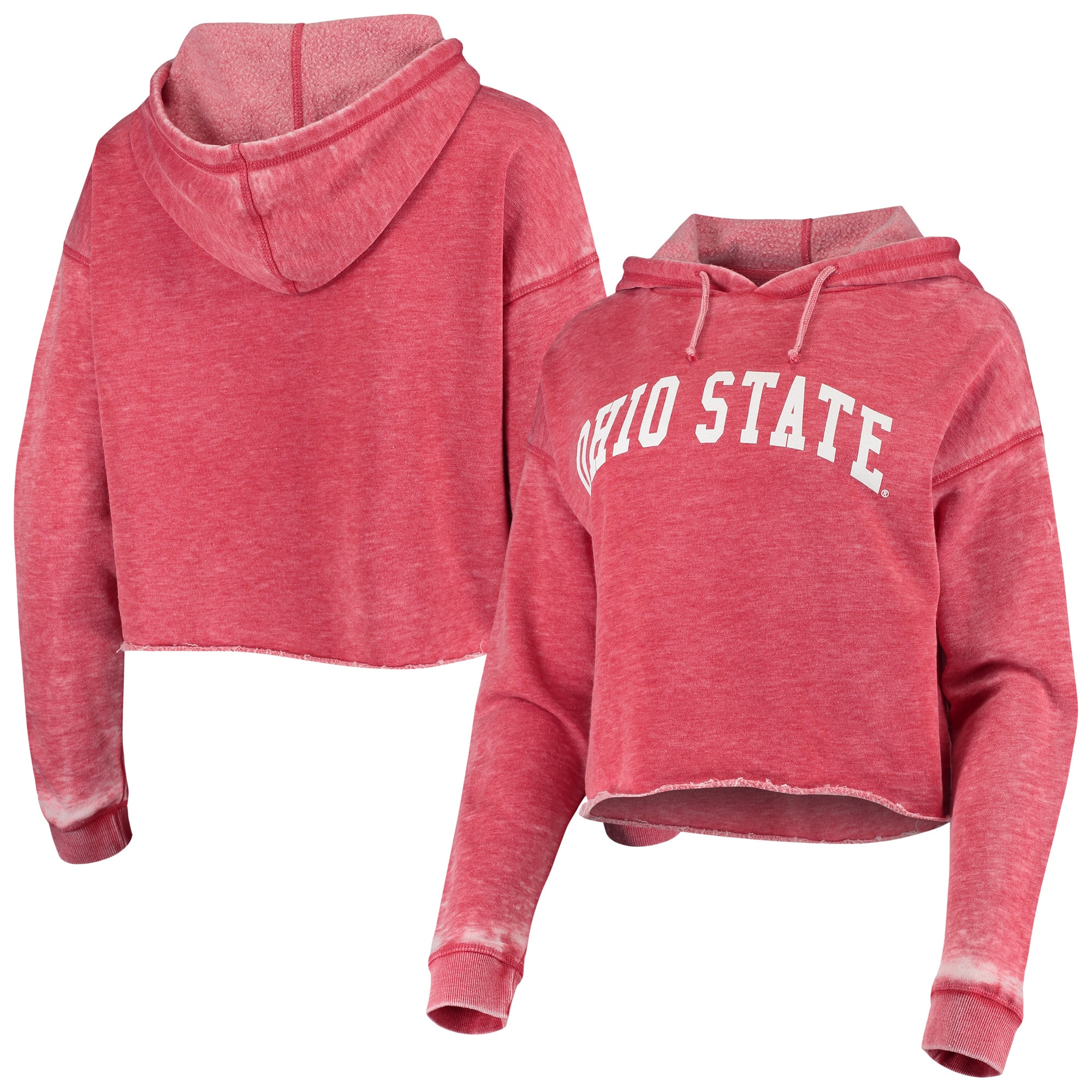 chicka-d NCAA womens Burnout Cropped Hoodie