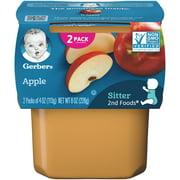 Gerber 2nd Foods Stage 2 Baby Food Apple, 4 oz, Tub 2 count