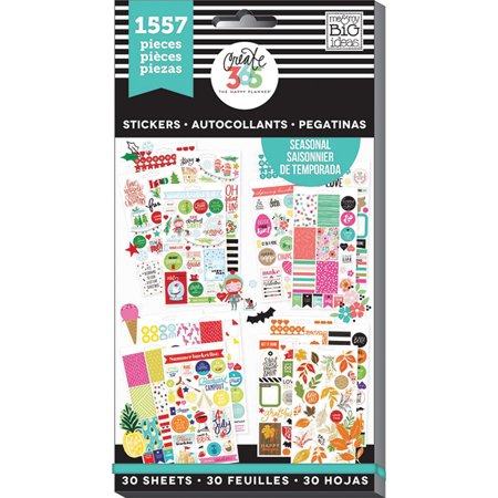Create 365 Happy Planner Sticker Value Pack Brilliant Year  1557 Pkg